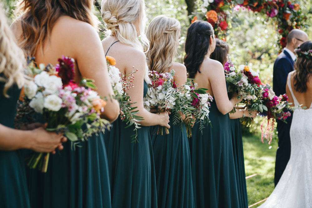 Flowers by Lace and lilies, jewel tones, colorful, bridal bouquet, hair crown, plants and flowers, colorful arch, castle wedding, colorado wedding, dunafon castle wedding