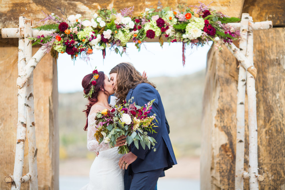 Flowers by Lace and Lilies, arch decor, arch flowers, birch arch, wedding flowers, colorado wedding, mountain wedding, horsetooth reservoir wedding