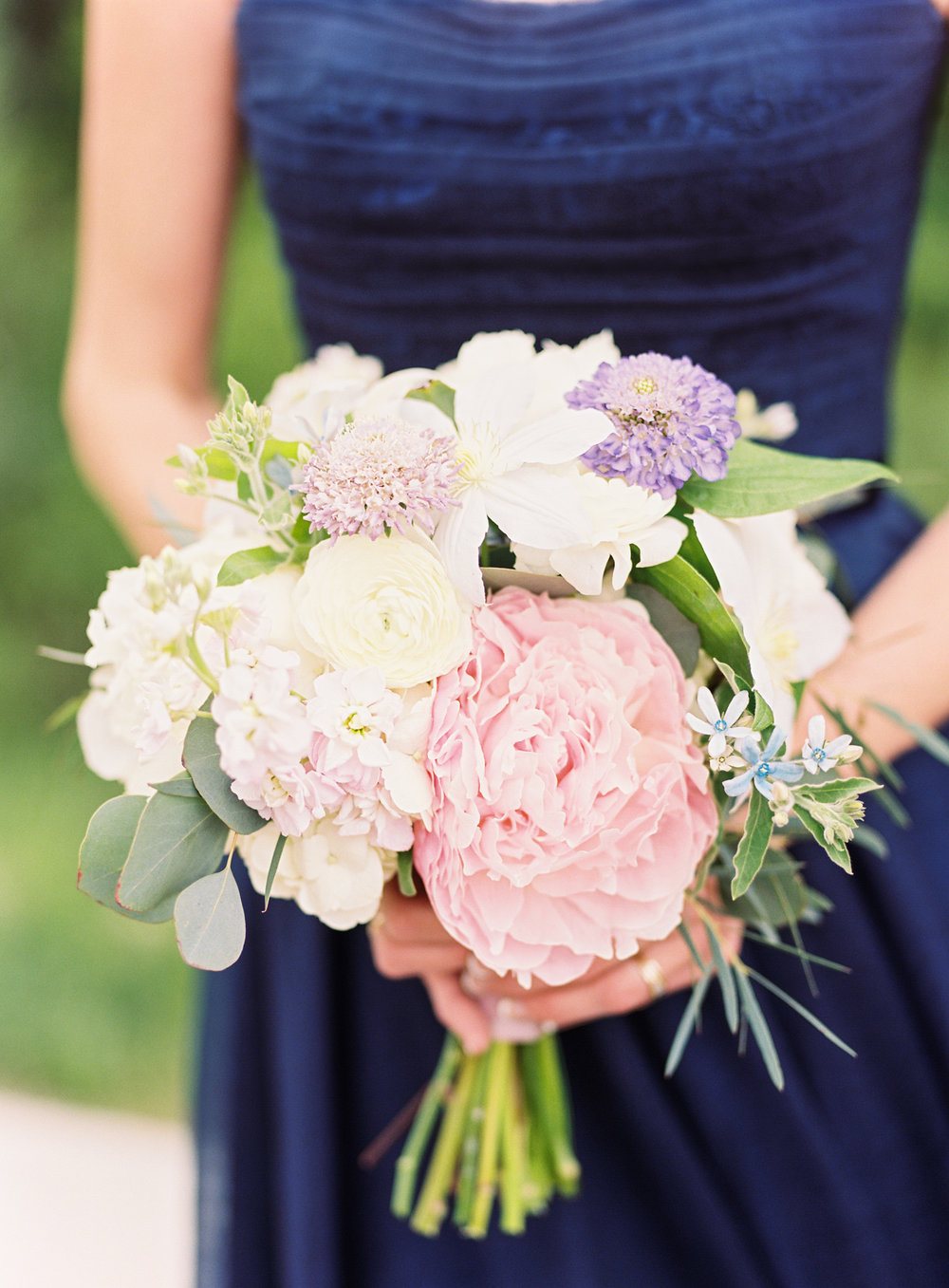 Flowers by Lace and Lilies, wedding flowers, bridesmaid flowers, bridesmaid bouquets, blush wedding, green and white wedding, green and white flowers, navy gowns, blush flowers, lavender flowers