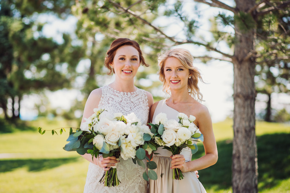 Flowers by Lace and Lilies, bridesmaid bouquets, bridesmaid flowers, neutral wedding, greenery wedding, foliage, green and white, bride and bridesmaid