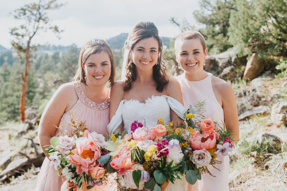 Flowers by Lace and Lilies, wedding flowers, bridesmaid bouquet, bridal bouquet, wedding flowers, foliage, greenery, colorado wedding, colorful flowers,