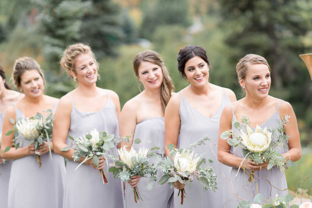 Flowers by Lace and Lilies, protea bouquet, neutral wedding, wedding flowers, lavender bridesmaid gowns, bridesmaid bouquet