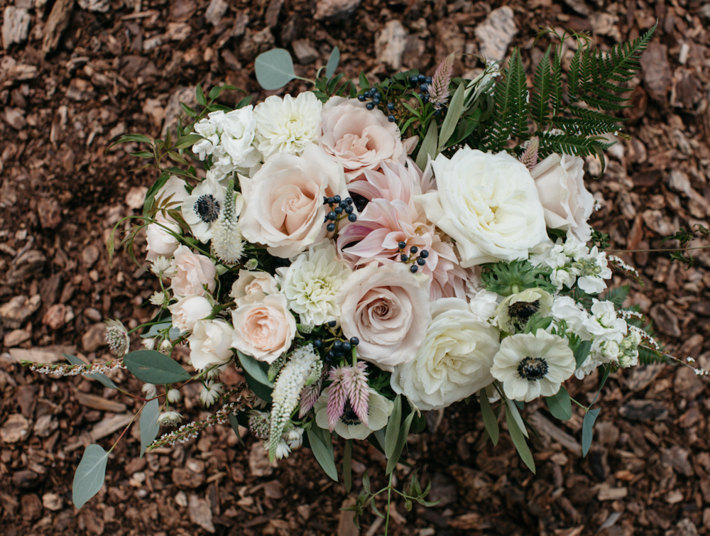 Flowers by Lace and Lilies, wedding flowers, blush flowers, bridal bouquet, colorado wedding, blush and white wedding, eucalyptus, greenery, foliage