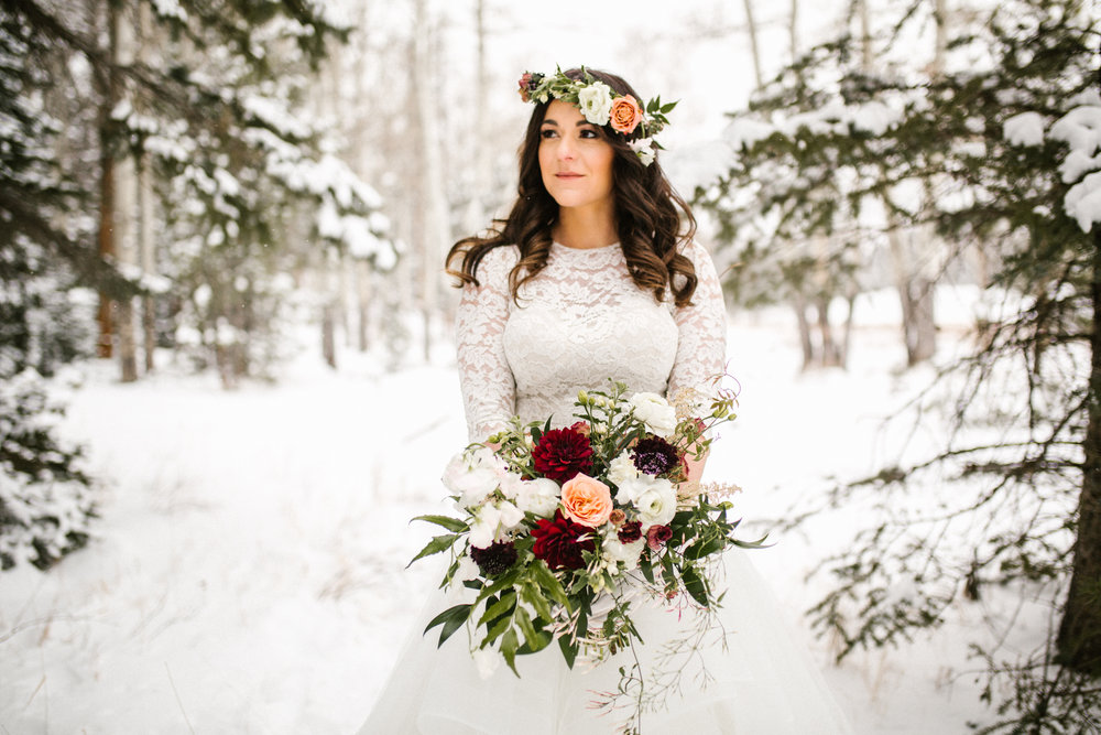 Flowers by Lace + Lilies, colorado elopement, elopement flowers, flower crown, bridal bouquet, flowers, colorado elopement