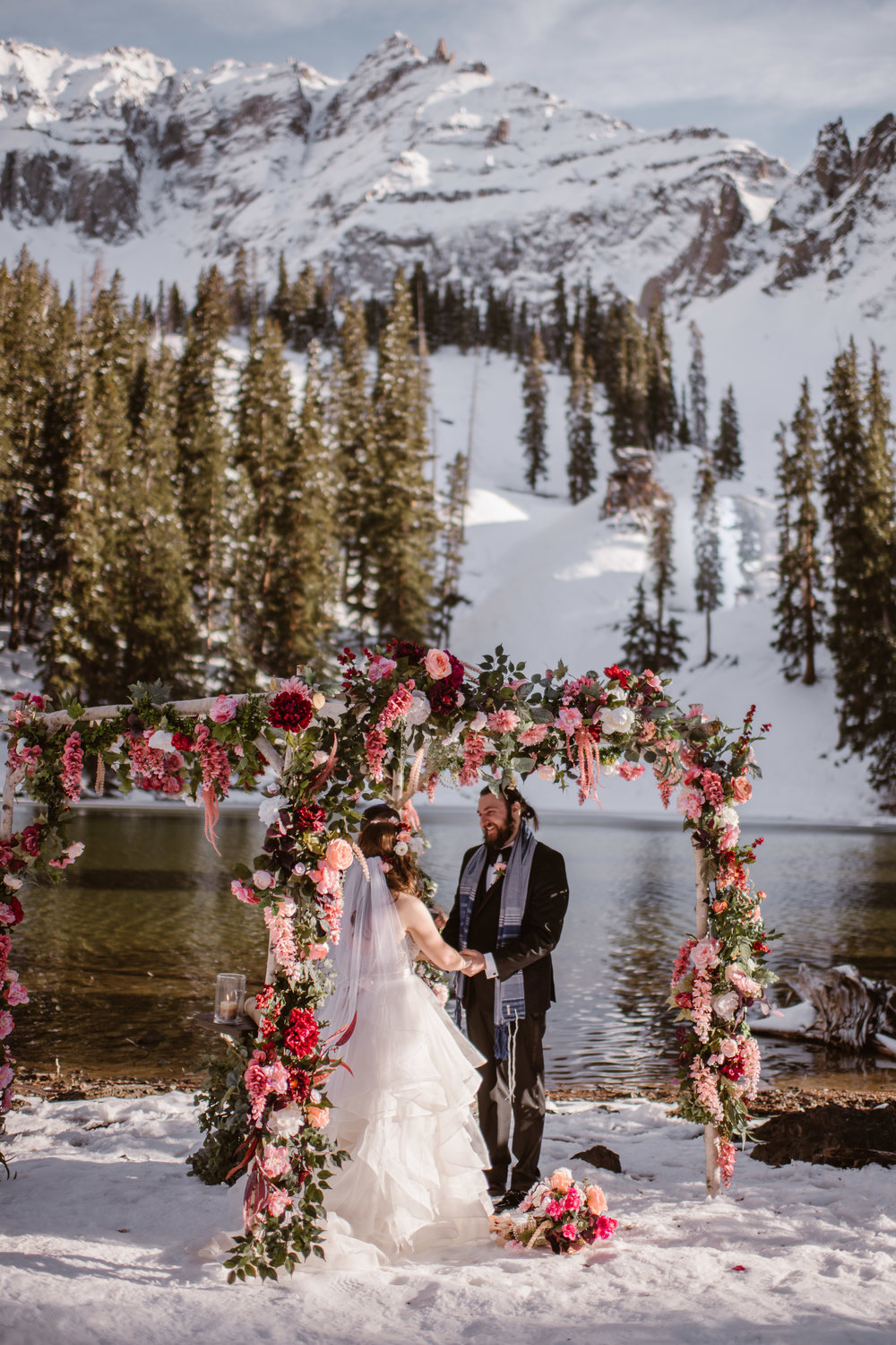 Flowers by Lace and Lilies, bridal bouquet, elopement bouquet, boutonniere, adventure instead, colorado elopement, colorado wedding, mountain wedding