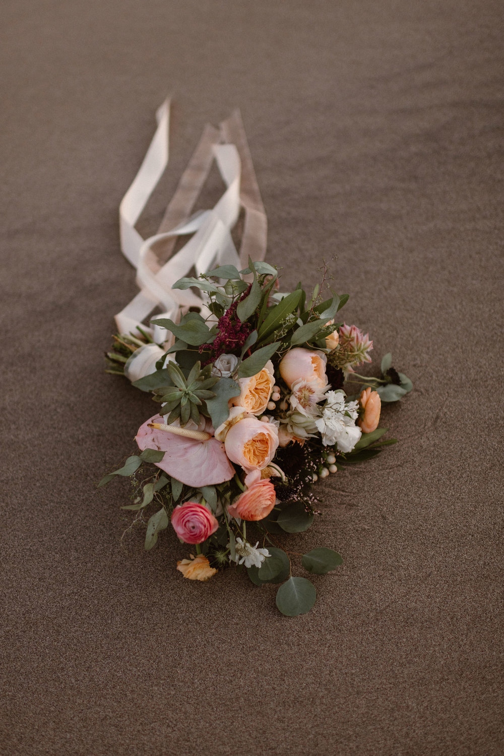 Flowers by Lace and Lilies, bridal bouquet, elopement bouquet, colorado wedding, mountain wedding, hair flowers, peach flowers, hair comb