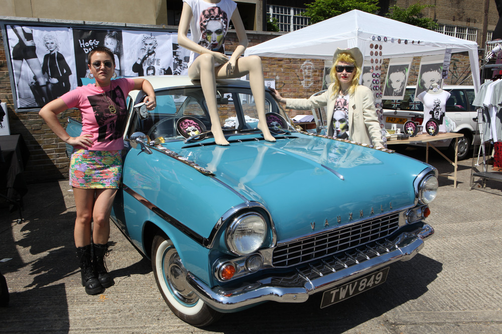 Pam Hogg at 2013 Art Car Boot Fair