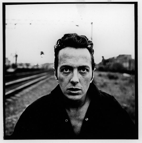 Joe Strummer of the clash, photographed in Shoreditch, 1988, by Peter Anderson.
