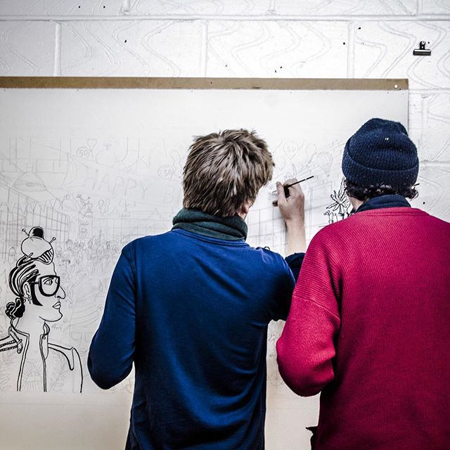 Almost blank page as @le_gun_london start on the #shoreditchoriginals #illustration. Our interview with them is here http://estateoffice.com/blog/shoreditch-originals-le-gun