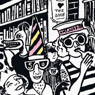 Being Friday the folks in our Shoreditch 50th birthday party #illustration are getting wild. #shoreditchoriginals