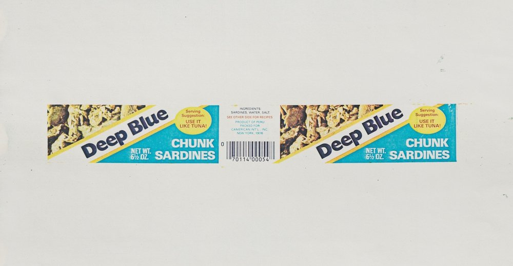 Hollis Frampton | Deep Sardine Brand Blue Chunks (1983)
