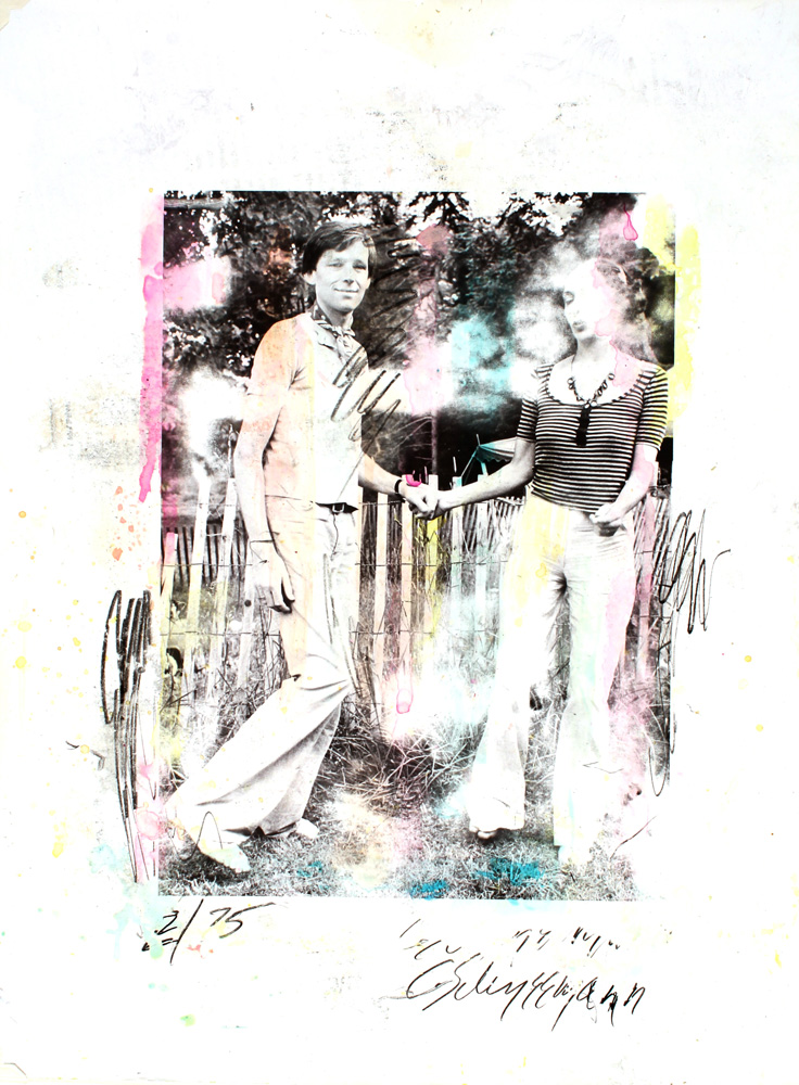 Marion Faller and Carolee Schneemann  The Costume Party  1974-1975 Manipulated photograph, mixed media