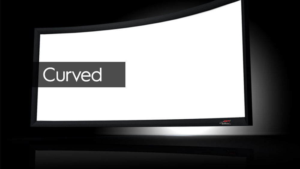New flexibility enables fixed projector screens the ability to be shaped into a curved design that will immerse you into your home theater experience.