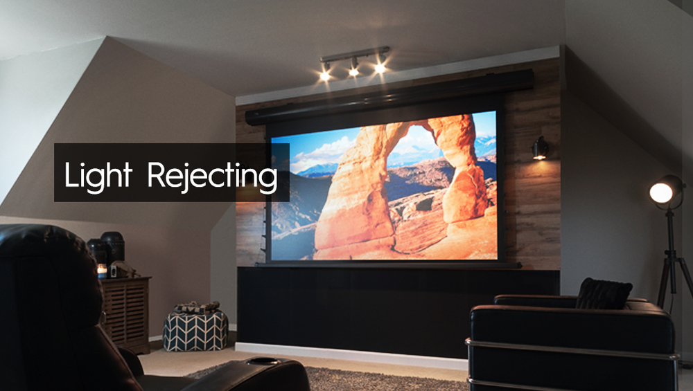 The CineGrey 3D® is a front projection screen material formulated for environments with minimal control over room lighting. It was designed to enhance picture brightness, offer accurate color fidelity, and improve contrast levels.