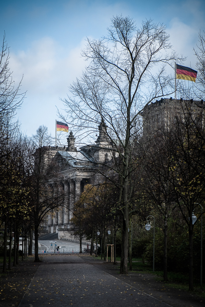 Reichstag through the Tiergarten