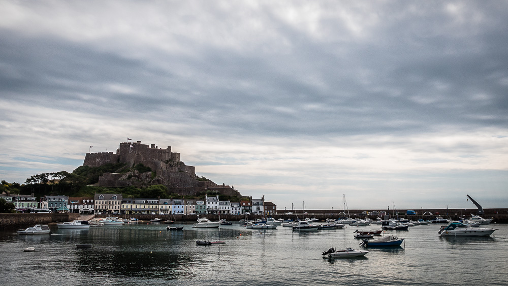 Mont Orgueil Castle and Gorey Harbour