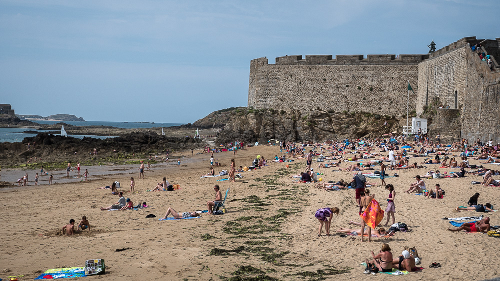 Beach outside the walls of St. Malo