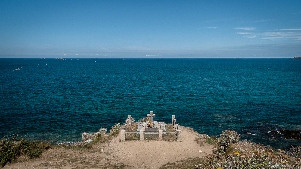 Final resting place of Chateaubriand on the Ile du Grand Bé