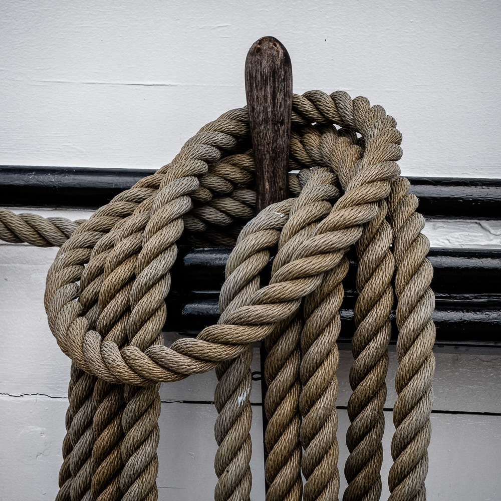 Ropes on HMS Warrior