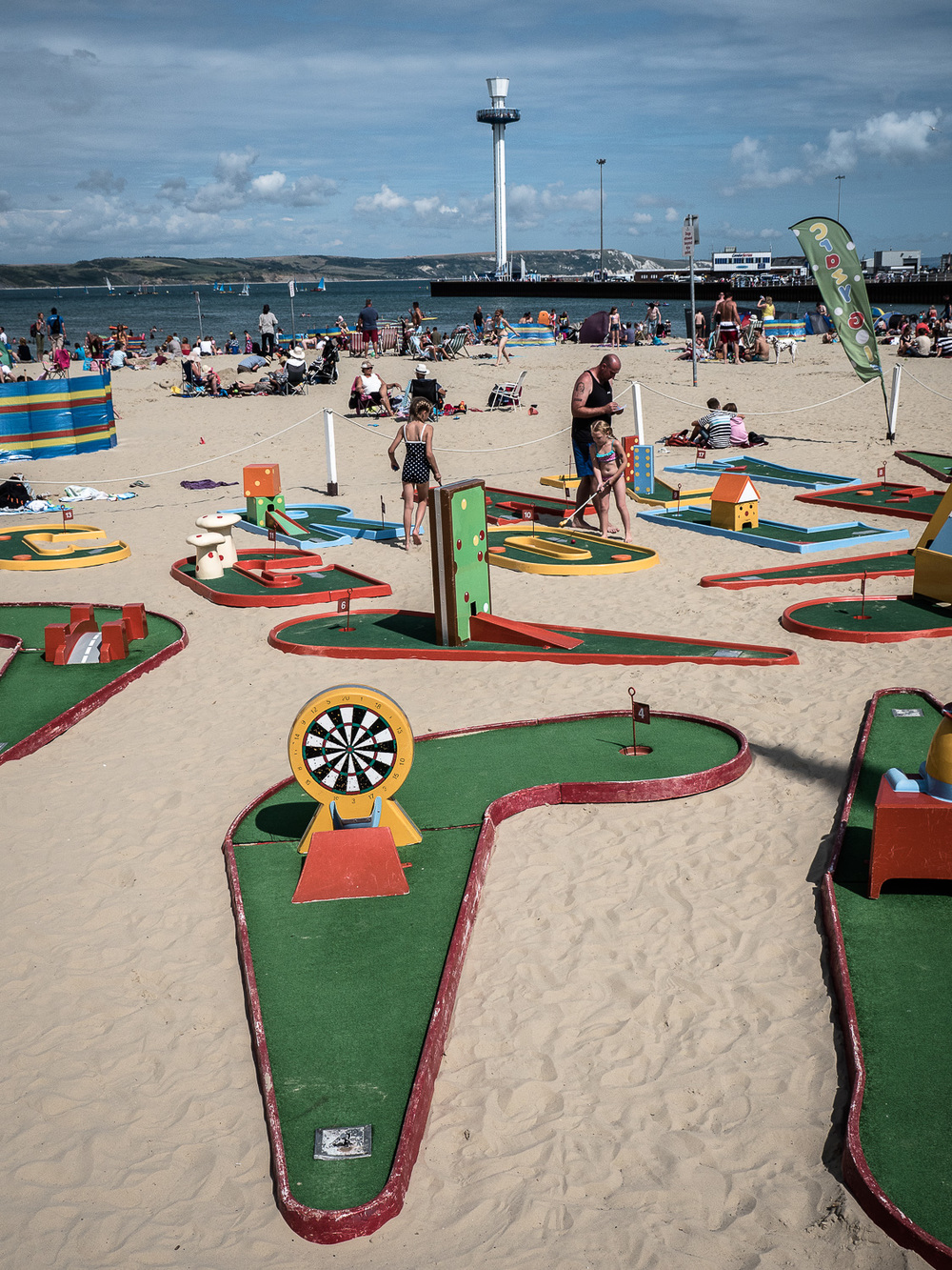 Minigolf on the beach?