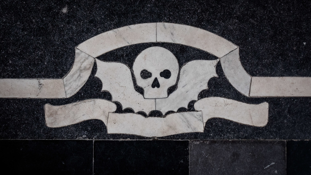 Grave marker in the floor of Sint-Romboutskathedraal
