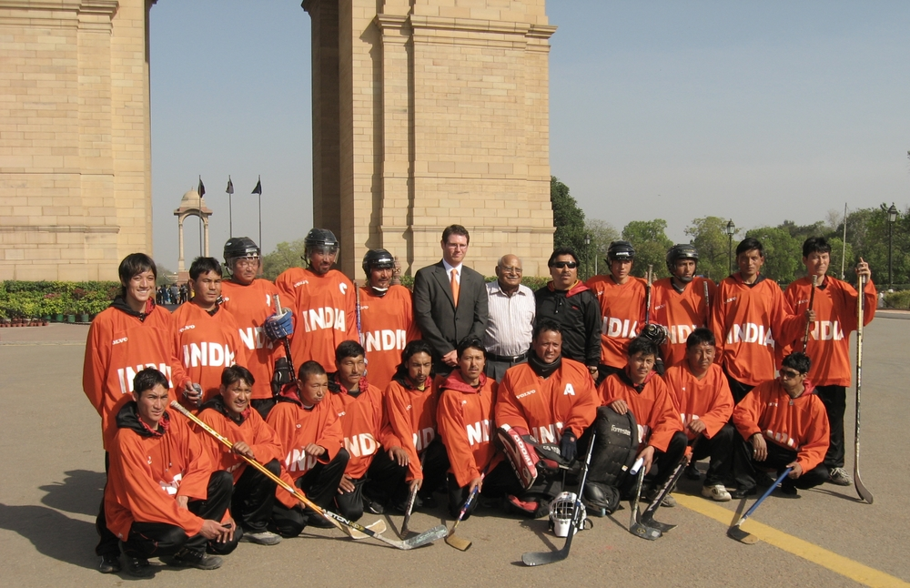 First Indian National Ice Hockey Team, New Delhi, 2009