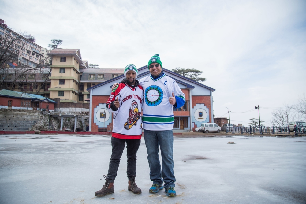 Hockey Tutorial Founder Chris Kibui and Hockey Foundation Founder/Executive Director Adam Sherlip arrived in India this week. (Credit: The Hockey Foundation)
