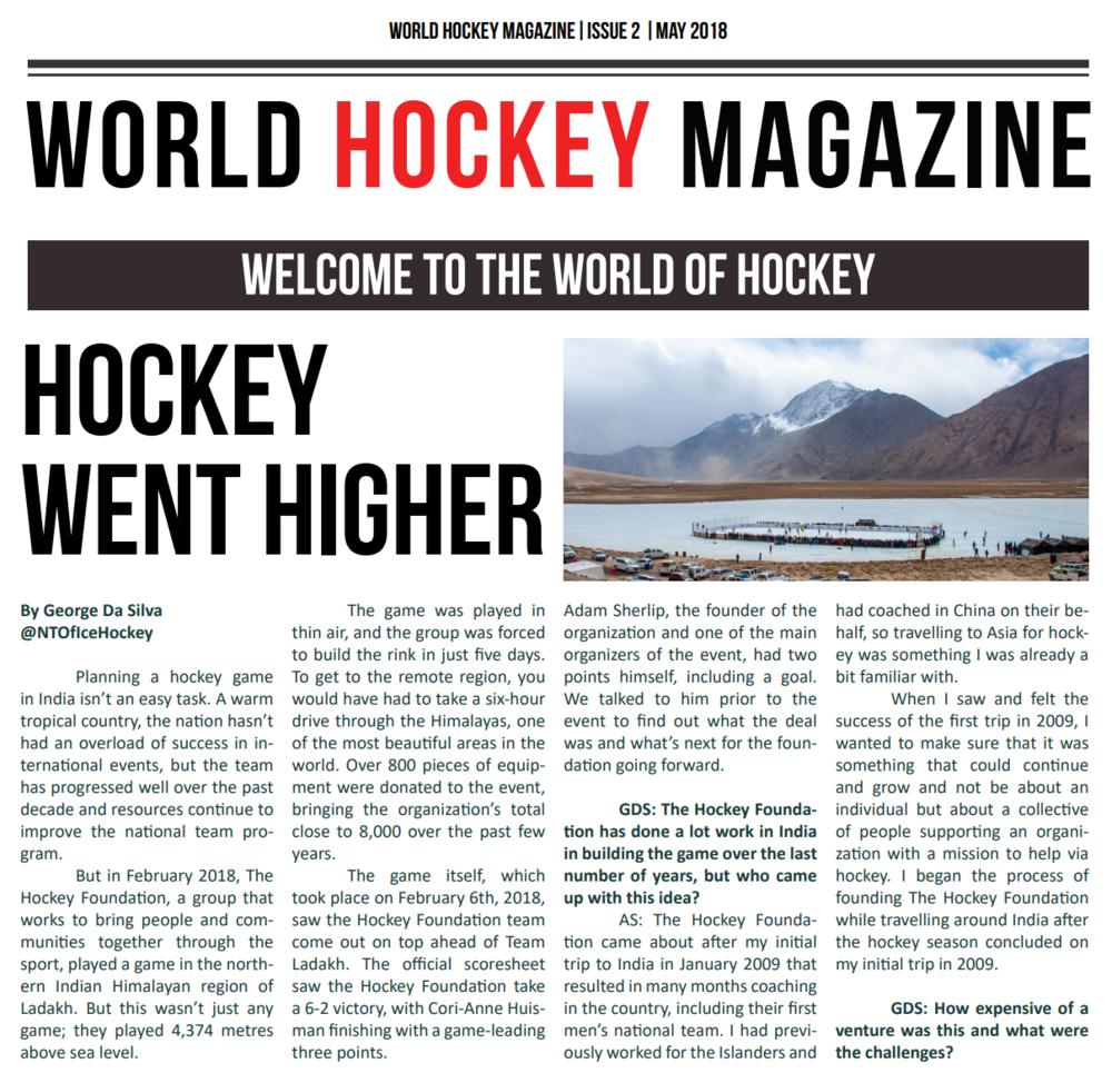 World Hockey Mag Cover