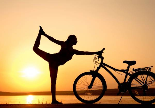 yoga and cycling