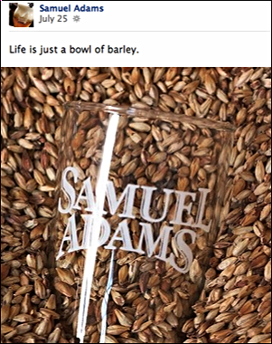 Samuel Adams encourages conversations with customers through eye-grabbing, witty content