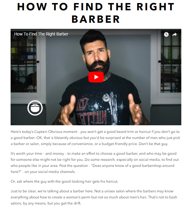[Beardbrand informative how-to blog content answers questions on the tip of every Urban Beardsmans' tongue]