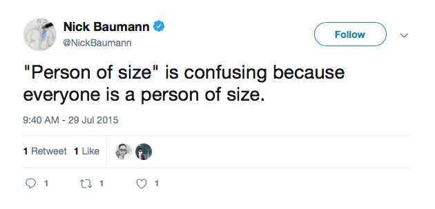 """HuffPost  editor  Nick Baumann  on the politically correct (albeit confusing) substitute for """"obesity""""."""