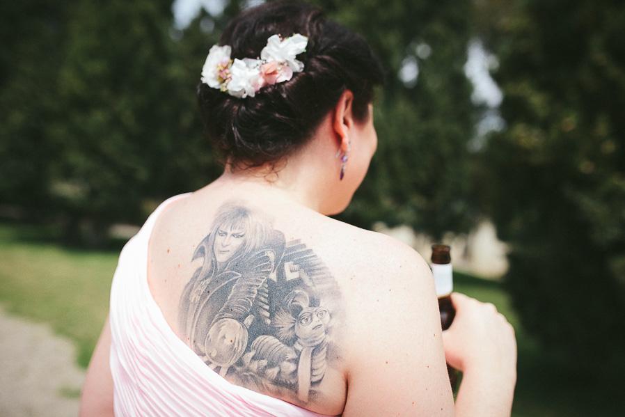 Esperamos que todos sepáis de qué peli es este tatuaje.