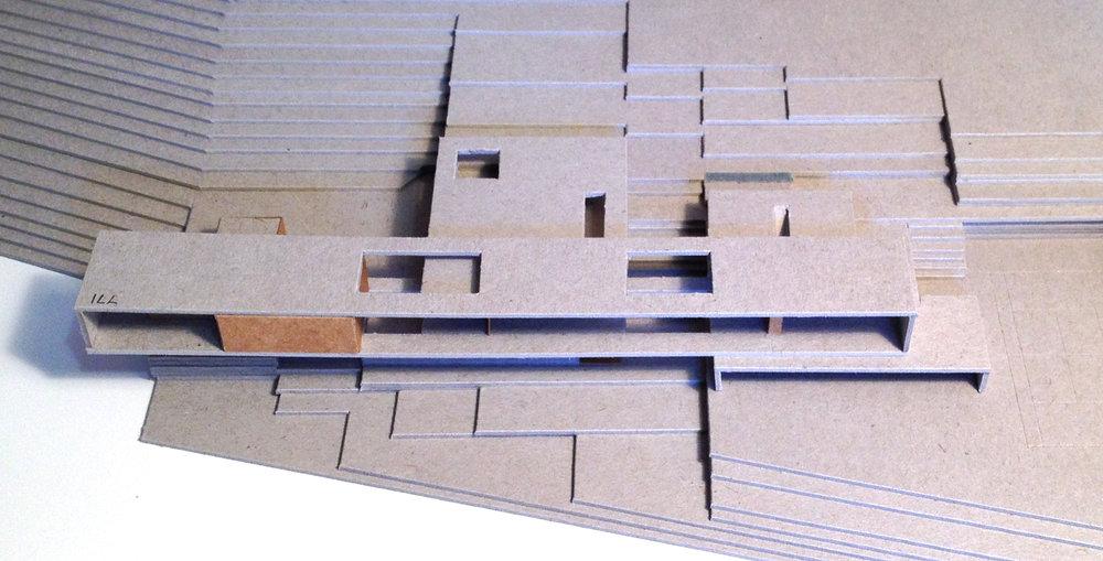 BA1302_Country house concept model.JPG