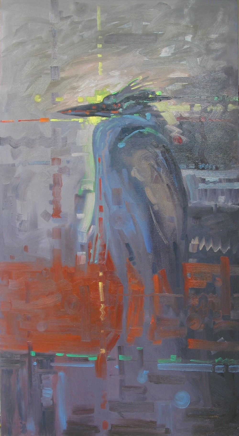 """GBH""                                                        Oil On Canvas                                              48"" x 24"""