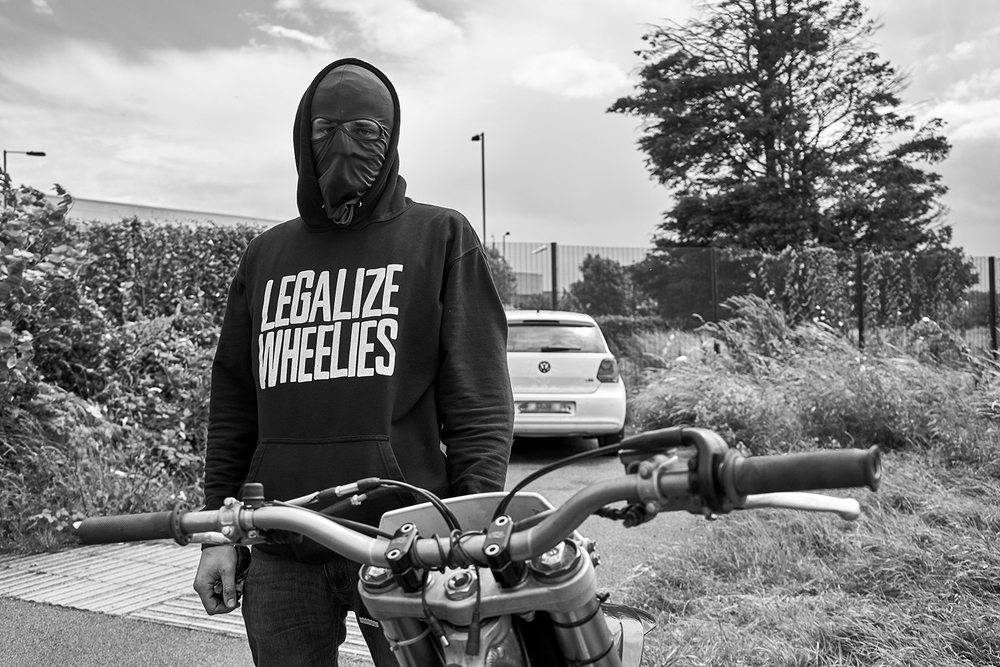 """""""For me Bikelife is about the thrill, the freedom, the adventure, the risk it brings. I've met some humble people through Bikes that are good friends now""""  Clumsy at the Belvedere Strip."""