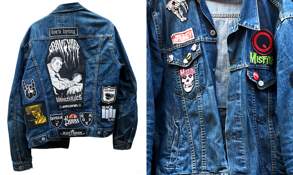"""I have 3 battle jackets with about 10/15 patches on each and a shit load more that I've never got round to sewing on. Or didn't think they'd fit with the other patches on the jacket"" Jim"