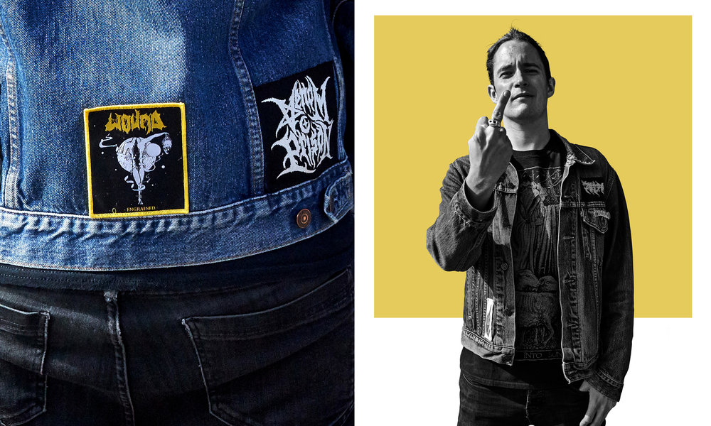 """The patch collection on this jacket is pretty minimal, it mainly reps underground bands which I think is really important. Spread the bands you're into, support the scene."" Adam"