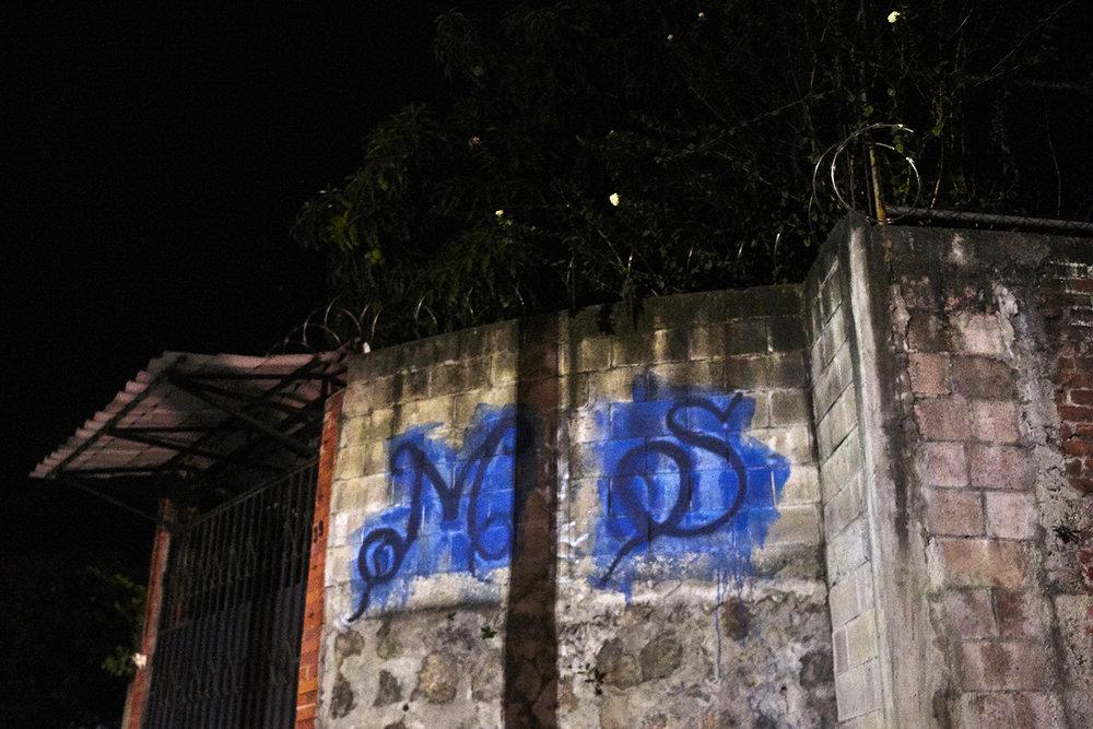 MS-13 tag in Ilopango.