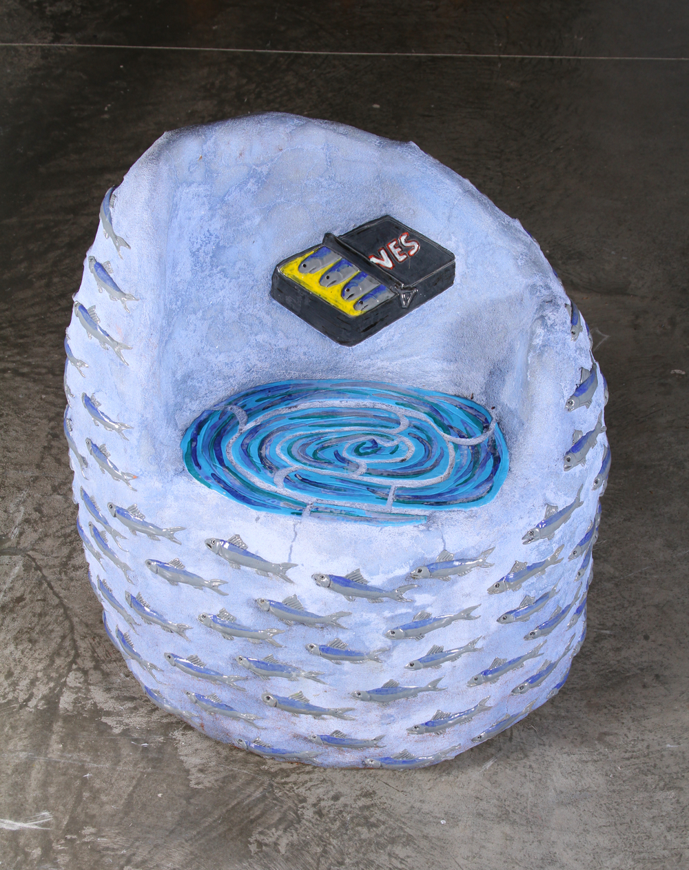 """Sardine Seat"" 37"" x 36"" x 28"" Ceramic tile and Cement 2010"