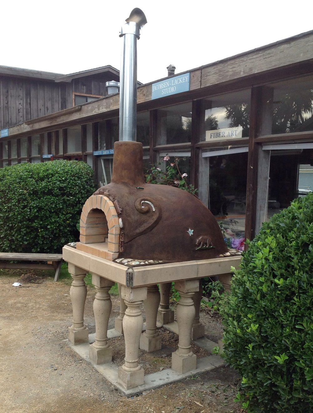 """Abalone Shell Oven""  Mendocino Art Center, Mendicino, CA  2014"
