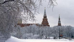 Fifteen century towers of the Kremlin