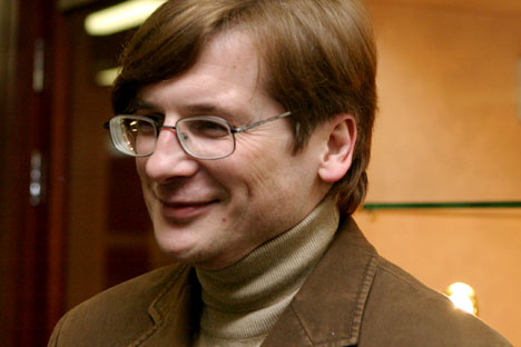 "Russian writer Oleg Zaionchkovsky anthropomorphed Moscow in his latest novel ""Happiness is Possible"". Source: RIA Novosti / Vladimir Fedorenko"
