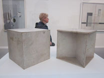 Gabo's  Two Cubes in the Tate Modern. Source: Phoebe Taplin.
