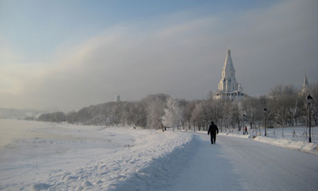 Walking beside the Moscow River at Kolomenskoye Photograph: Phoebe Taplin