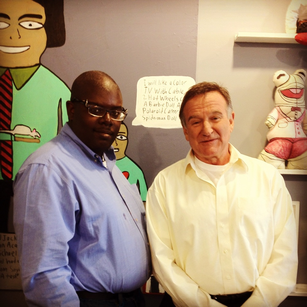 Michael Pellew with Robin Williams