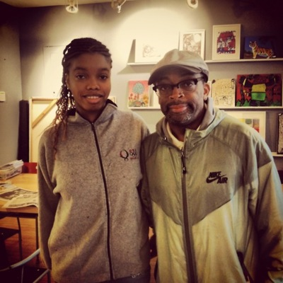 Myasia Dowdell with Spike Lee