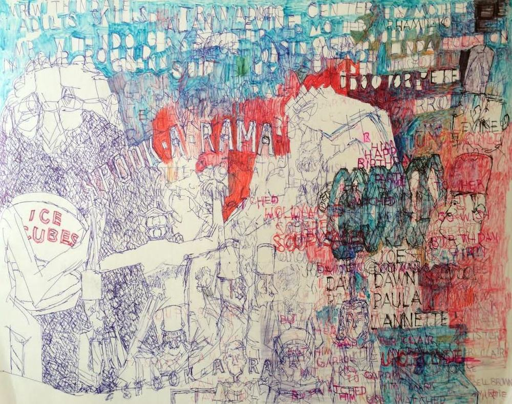 "Garrol Gayden, Untitled, 2015, Mixed Media on Paper, 22""x28"""