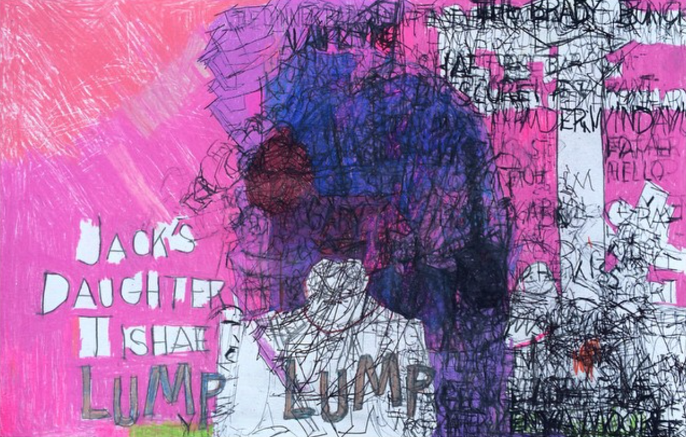 "Garrol Gayden, Lump Lump, 2015, Mixed Media on Paper, 13""x20"""