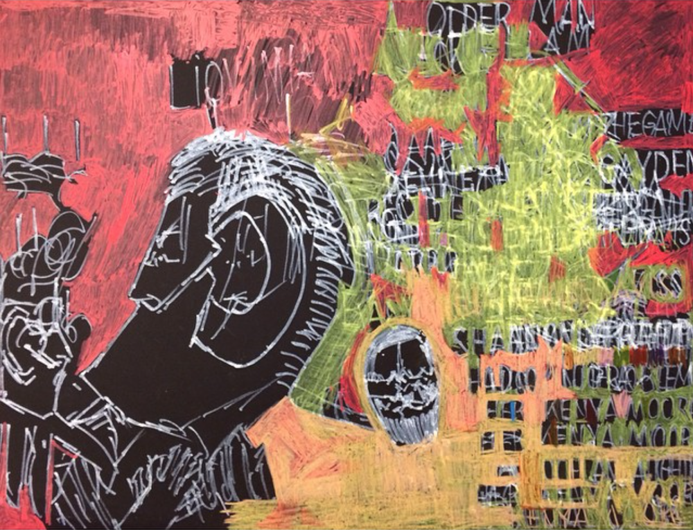 Garrol Gayden, Untitled, 2015, Mixed Media on Paper, 24%22x30%22 AM.png
